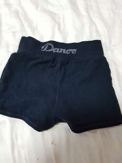 Capezio shorts dance or gym tights with rhinestones