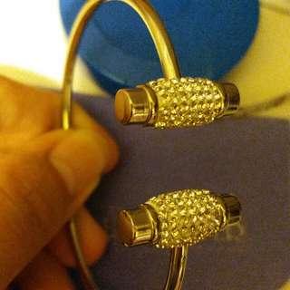 全新 Mall River 水晶 手鐲 crystal silver bracelet