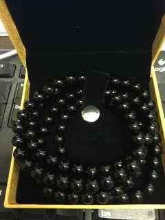 黑曜石手鏈 天然水晶念珠多圈