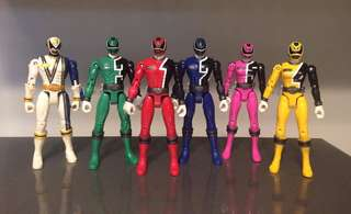 Power Rangers SPD (S.P.D.) Articulated Action Figures by Bandai