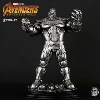 Thanos statues from infinity war