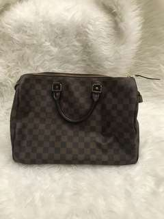 Auth Louis vuitton speedy damier 30