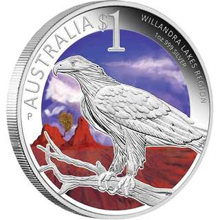 Sydney ANDA Coin Show Special - World Heritage Site – Willandra Lakes Region 2013 1oz Silver Proof Coin at The Perth Mint