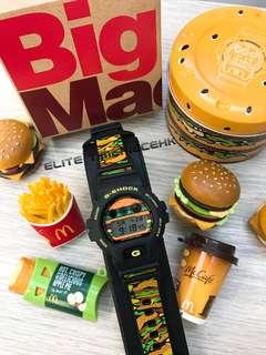 全新現貨 Casio G SHOCK x McDonald's BIG MAC 誕生50週年 DW-6900FS 日本發售限量紀念版 全日本製造 全球限量1000隻 麥當勞巨無霸