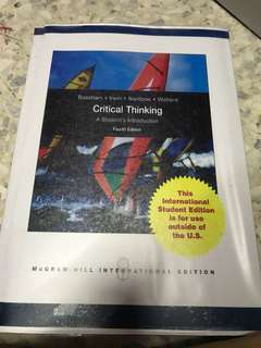 Critical Thinking (4th Édition)