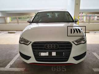 Plasti dip your car 🚗 Plastidip Audi A3 Sport Back  (Full Dechrome)