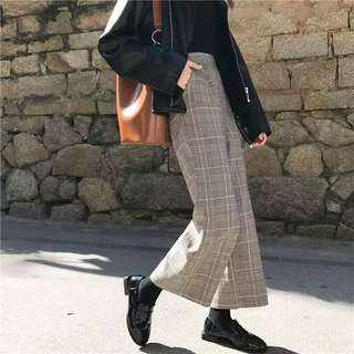 plaid pants instock