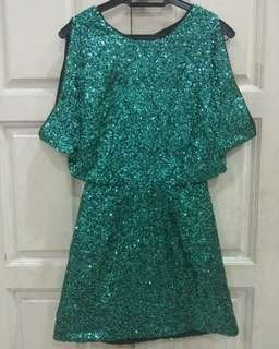 PRELOVED : Hnm sequin dress bought in US # women clothes, dress, fashion ,
