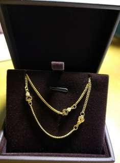 999.9黃金手錬(Bracelet )重0.148錢/5.54g