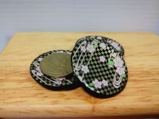 Dollhouse Miniature : 3pcs of sushi plate