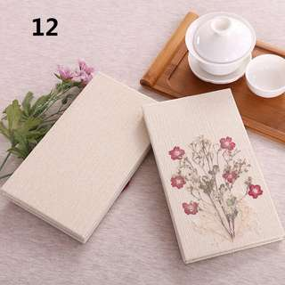 No. 12 Handmade Travel Journal Diary Notebook, Unique Artistic Hardcover With Real Flowers, Perfect for Personal Notes, Diaries, Thoughtful Gifts, Art Collection
