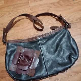 Brown and Black Shoulder Bag