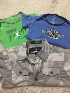 Authentic Jordan Onesies/ Polo Shirt