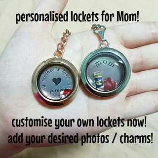 Personalise a locket for Mom!