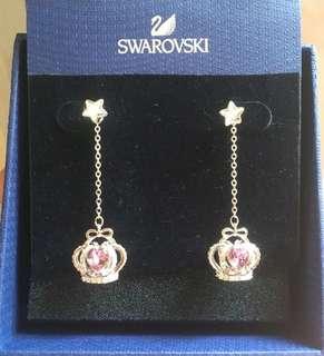 Swarovski Earrings星星立體皇冠