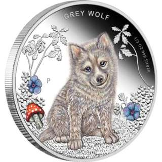 Forest Babies – Grey Wolf 2013 1/2oz Silver Proof Coin