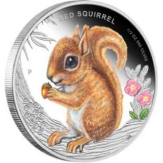 Forest Babies – Red Squirrel 2013 1/2oz Silver Proof Coin