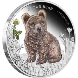 Forest Babies – Brown Bear 2013 1/2oz Silver Proof Coin