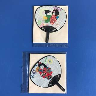 Small Japanese Fan Card with Envelope (2 pieces)