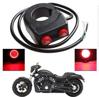 ***In-Stock = 22mm Handlebar Dual On Off Button Head Spot Fog Light Switch Motorcycle Escooters