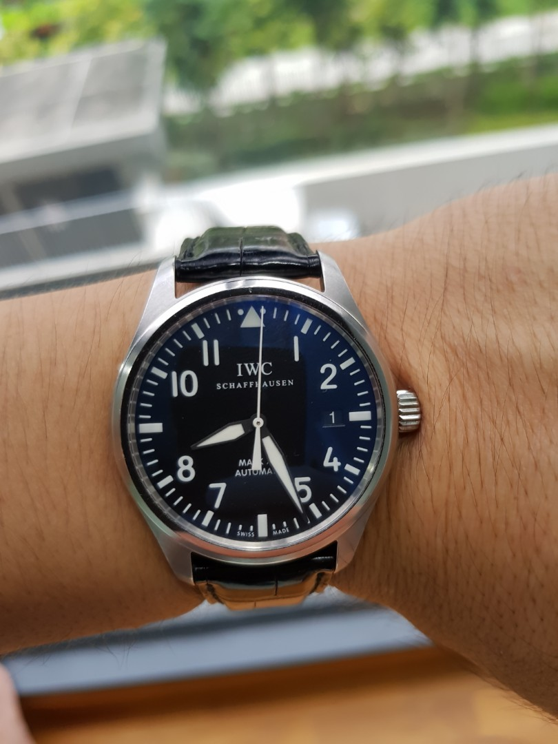 af8835a6c4be 55% Discount!! Like New IWC Flieger Pilot Mark XVI IW325501 39mm ...