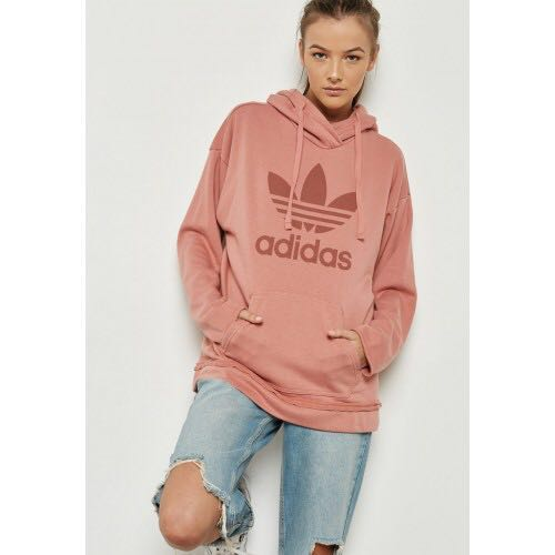 8255da5b9c8cf Authentic Adidas original women s trefoil hoodie — raw pink
