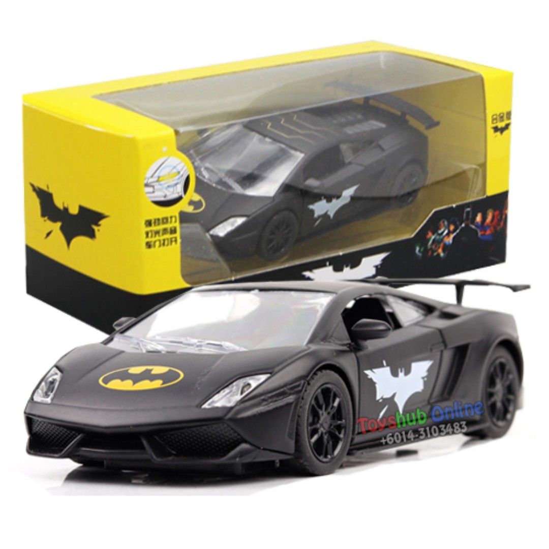 Battery Operated Pull Back Alloy Died Cast Batman Car Toy Sport