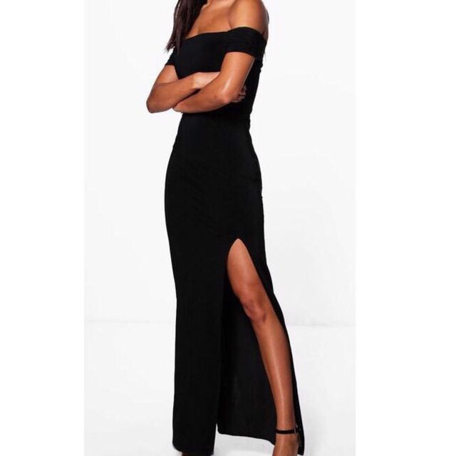 Black Off The Shoulder Formal Or Event Dress