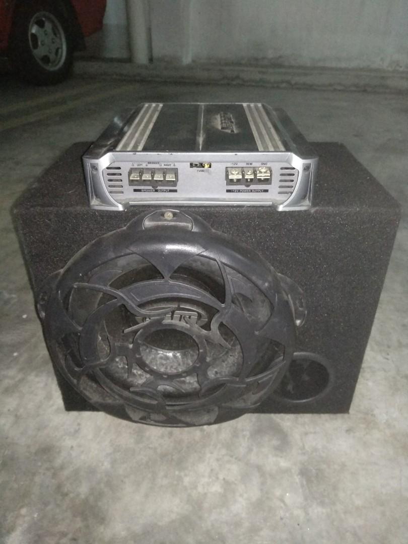 BM Subwoofer & Caliber Amplifier