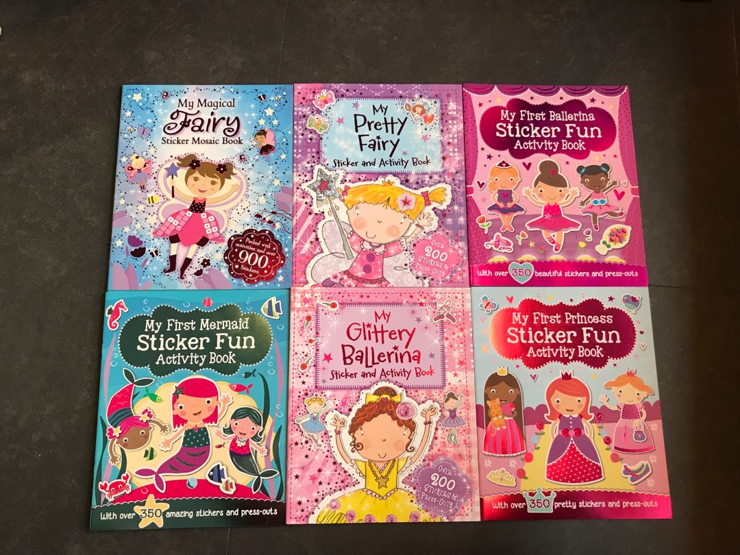 Bn Sticker Fun Activity Book Rp490ea 4ea Books Stationery My Pretty Pink Childrens On Carousell
