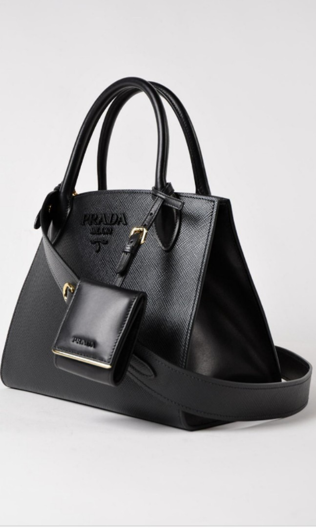 41cb5d917d2d ... store brand new prada saffiano cuir city calf monochrome bag 26cm  luxury bags wallets on carousell