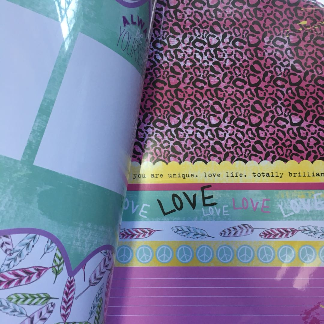 cute album book with decorative papers included!! 👀🌈