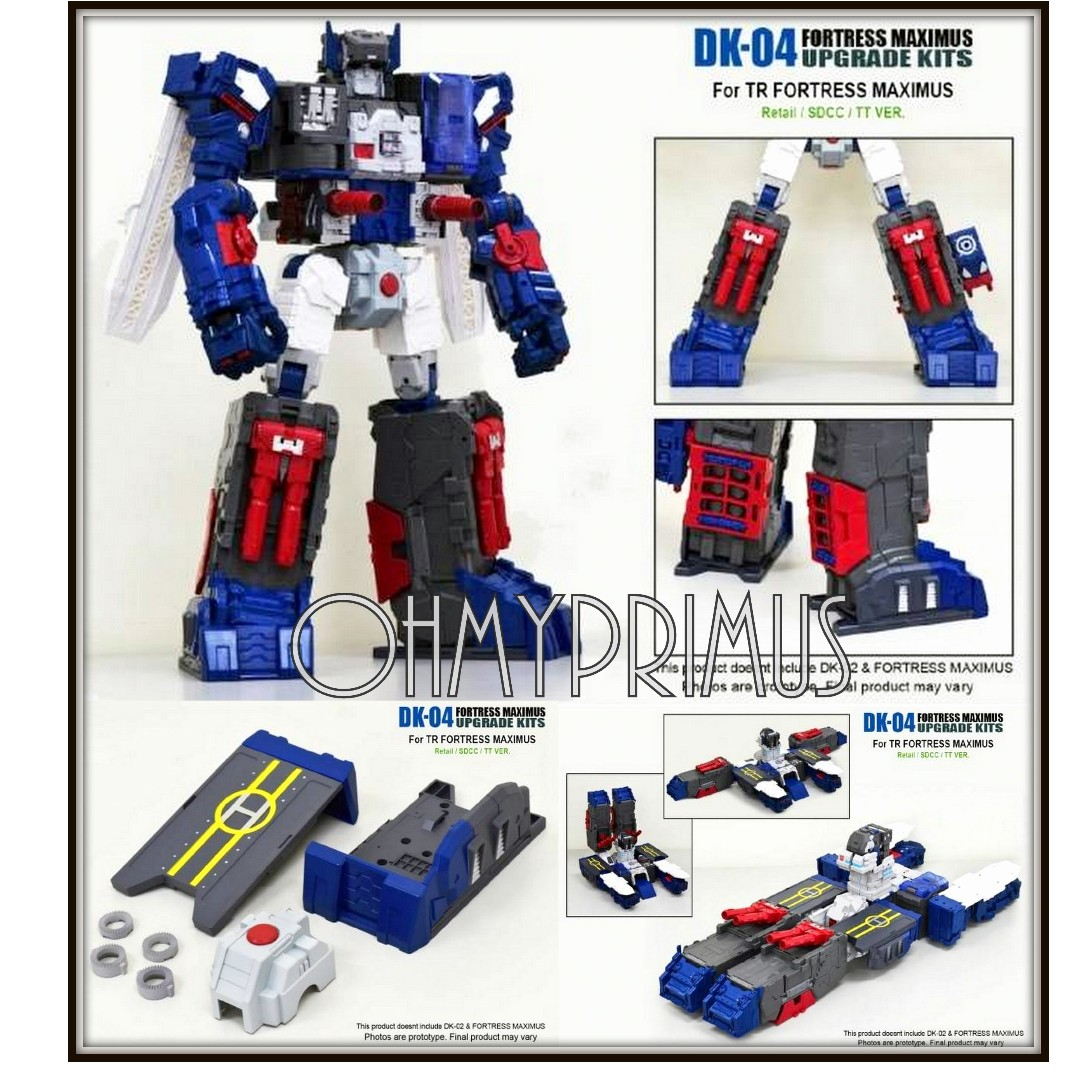 New DNA DK-04 Upgrade Kit For Transformer Fortress Maximus In Stock