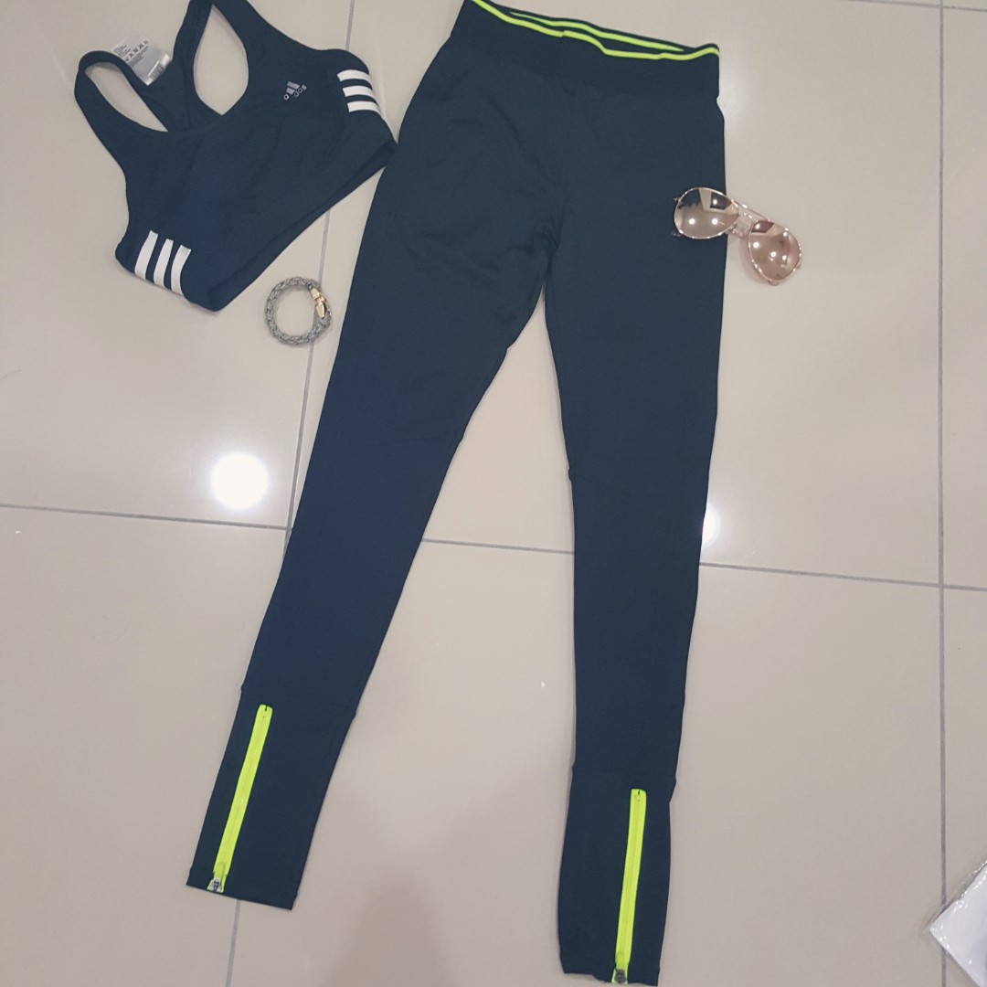 301618bbbb8391 Free Pos) Brand New Cotton On Yoga Pants/Sport Leggings with neon ...