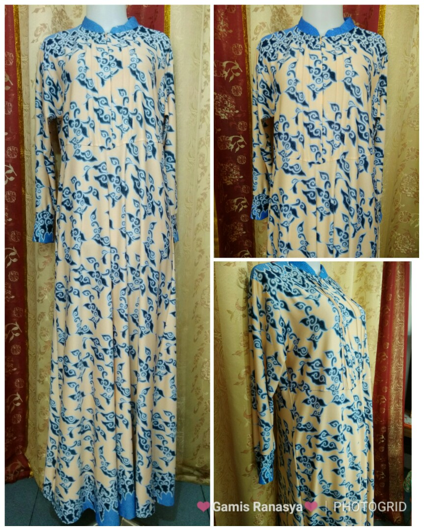 Gamis Batik Mega Mendung Olshop Fashion Olshop Muslim On Carousell