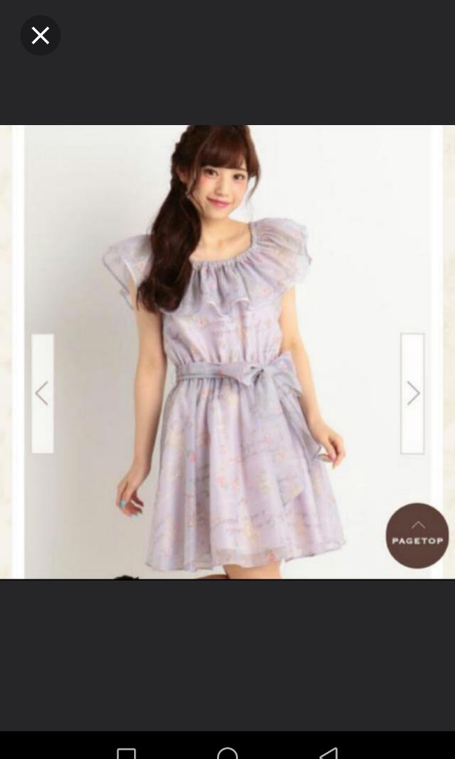f6db163396cf Genuine LIZ LISA Voilet Purple Ballet Theme Off Shoulder Dress One ...