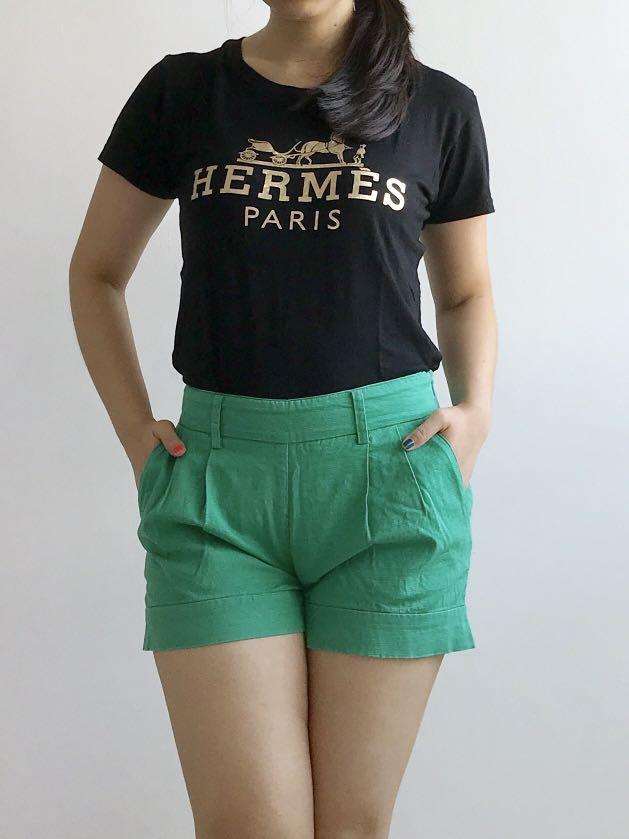 GG5 green shorts