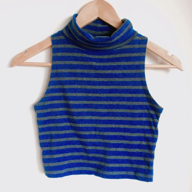 Glassons Stripe Crop Top XS