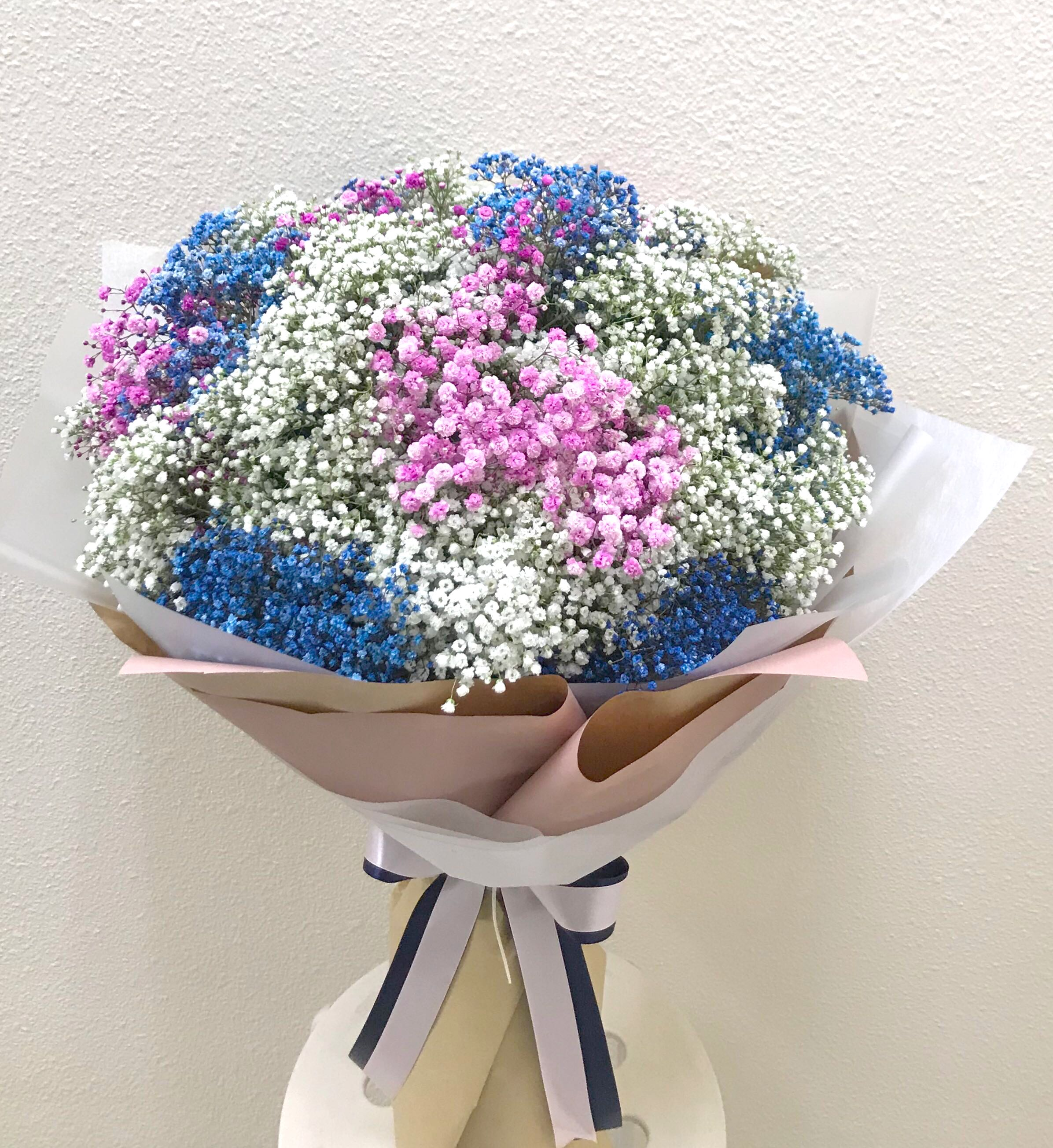 Huge baby breath bouquet