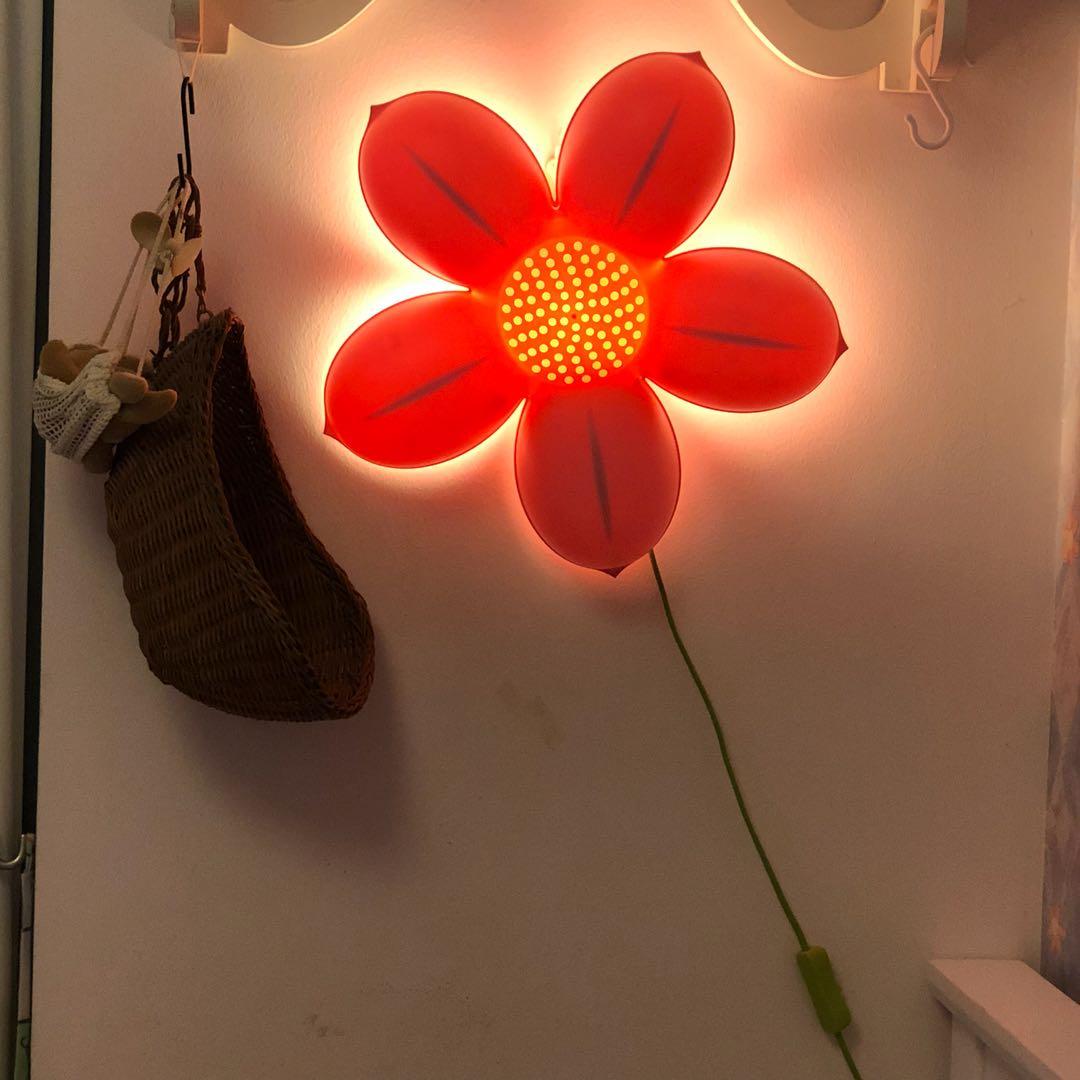 Ikea Kids Flower Wall Lamp Furniture