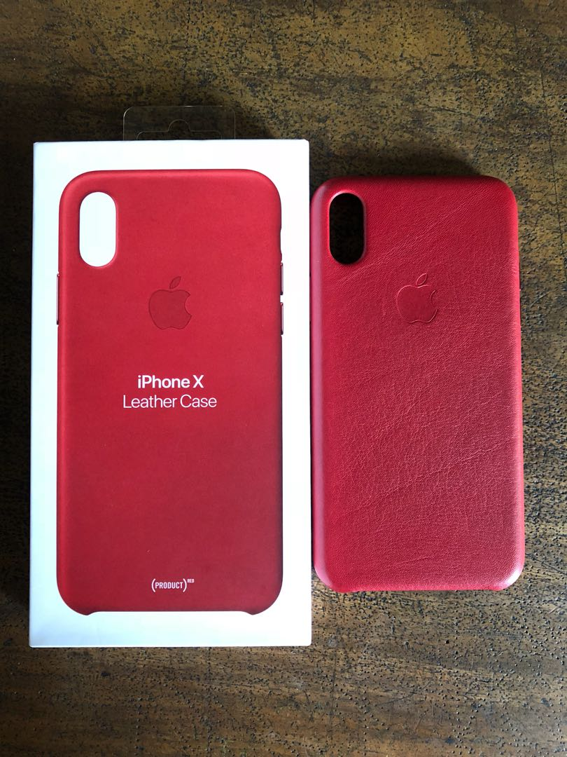 online store 7979a f19bd iPhone X Leather Case (Product RED) on Carousell