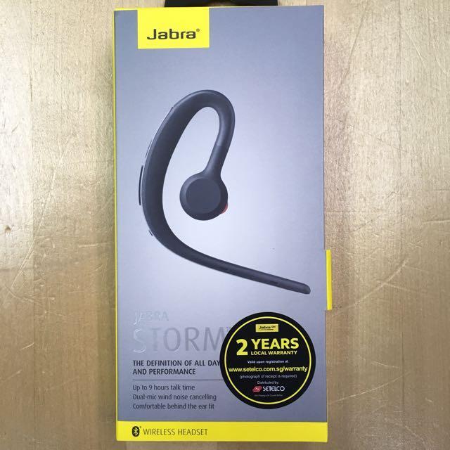 efcf15913d1 Jabra Storm Bluetooth Headset, Electronics, Audio on Carousell