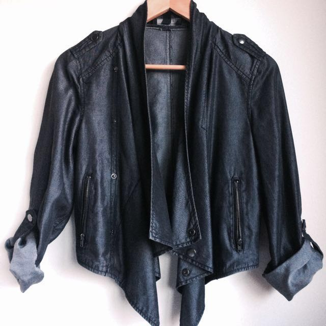 Just Jeans Dark Grey Jacket Size 8