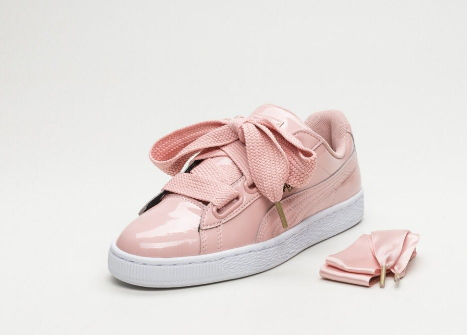 hot sale online 14cfe b759d Looking For: Puma Basket Heart Patent in Pink, Women's ...