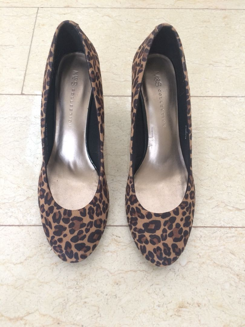 b983e5a4af31 Marks & Spencer - Leopard Print Heels, Women's Fashion, Shoes on Carousell