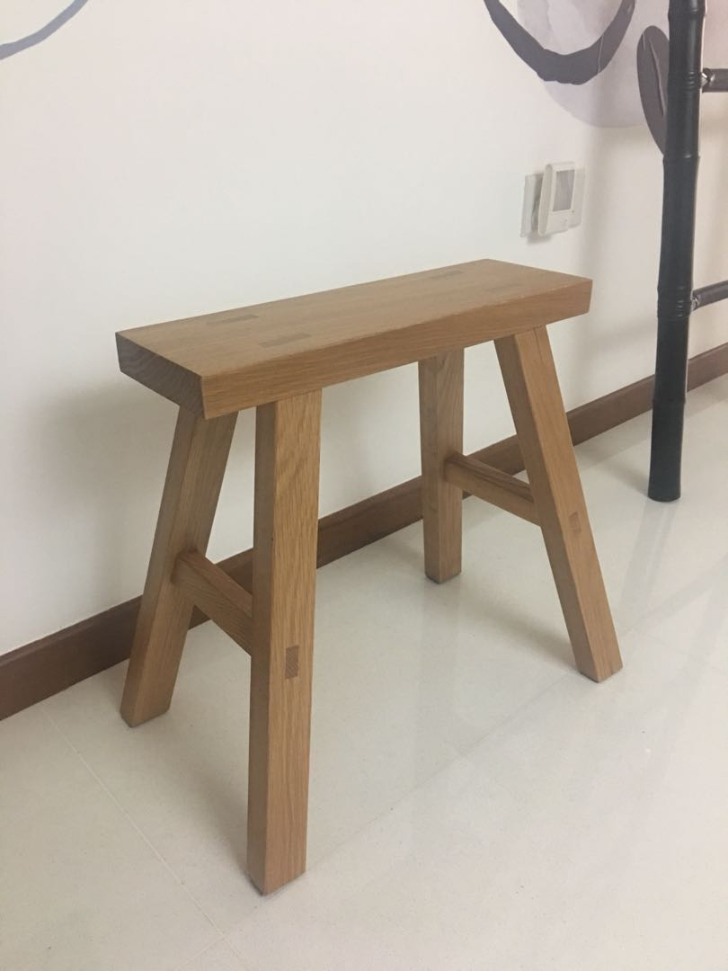 Terrific Muji Oak Small Bench Furniture Tables Chairs On Carousell Creativecarmelina Interior Chair Design Creativecarmelinacom
