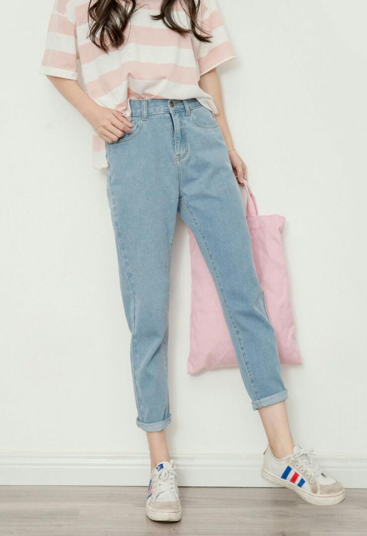 original real quality bright n colour PO] KOREAN BF DENIM JEANS, Women's Fashion, Clothes, Pants ...
