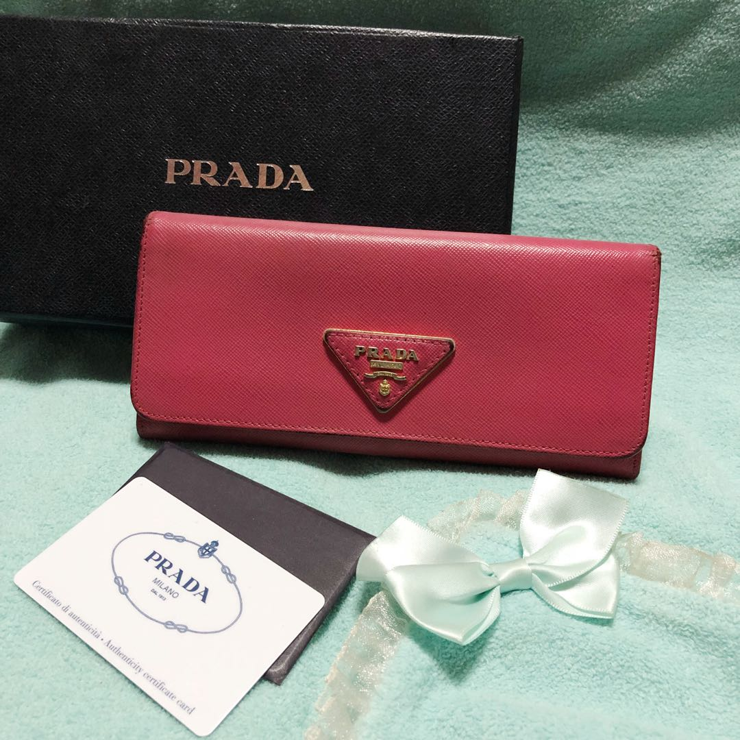5b58671c56e579 ... denmark prada saffiano triang metal continental long flap wallet luxury  bags wallets on carousell a1ce7 04e67