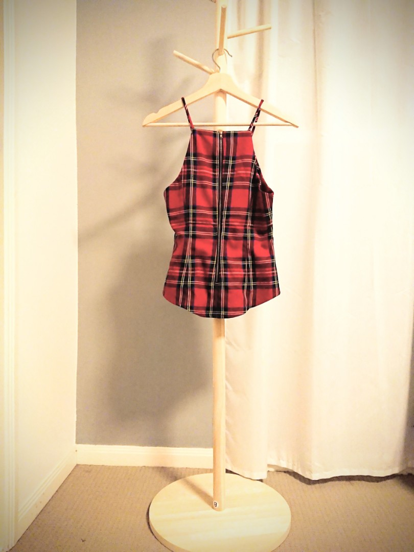 Red Plaid Halter - Size 8