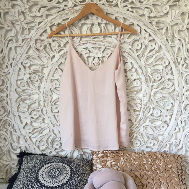 Silk cami baby pink